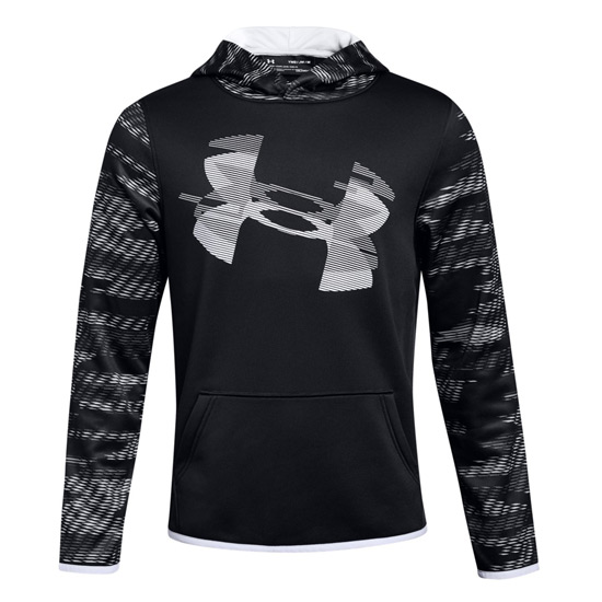 Under Armour Boys AF Highlight Sleeve Hoody (Black-White)