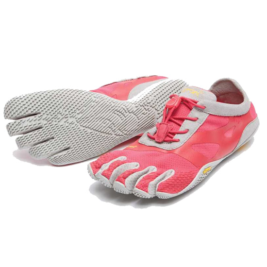 Vibram FiveFingers KSO Evo Womens Running Shoes (Pink-Grey)