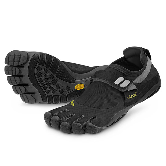 buy popular fec09 eb82a Vibram Five-Fingers Womens KSO Trek Sport (Black-Grey) Running Shoes
