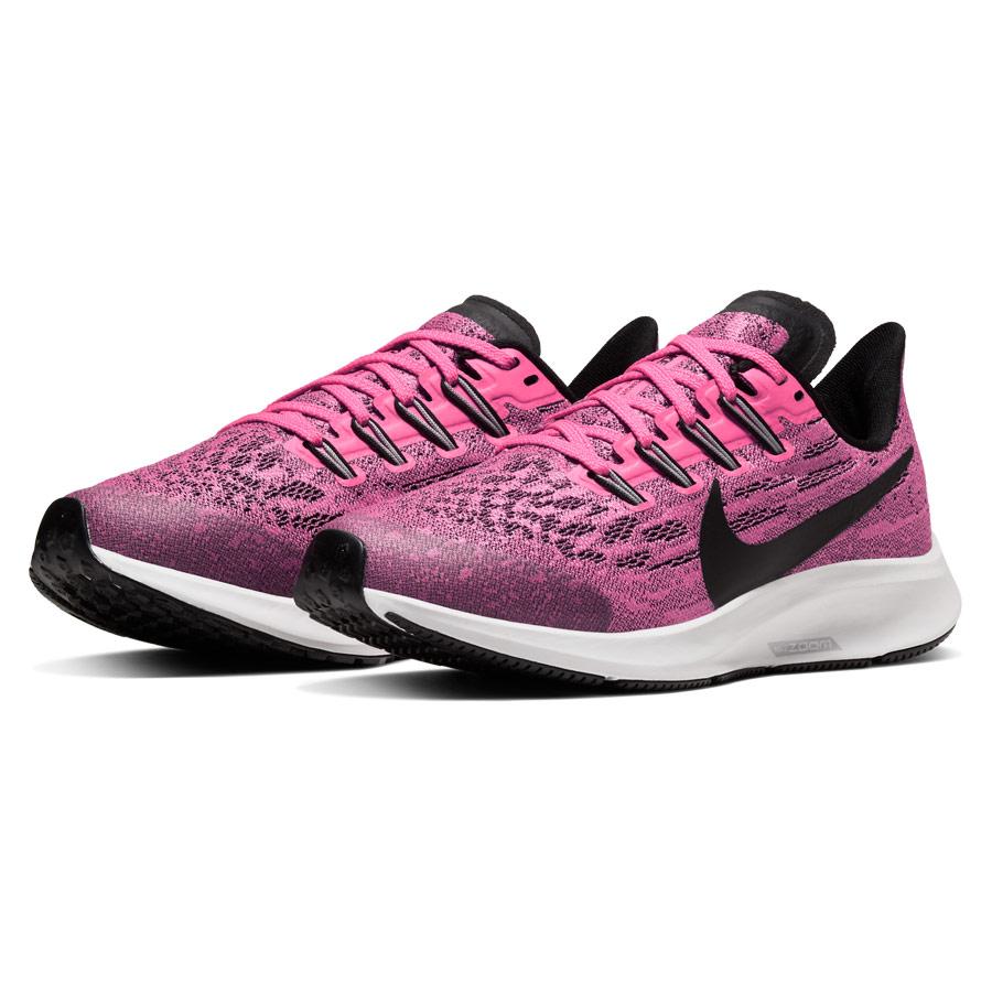 Nike Air Zoom Pegasus 36 Junior Running Shoes (Pink Blast Black Vast Grey)   Direct Running