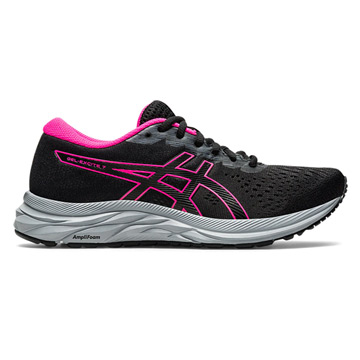 Asics Gel Excite 7 Womens Running Shoes (Black-Metropolis)