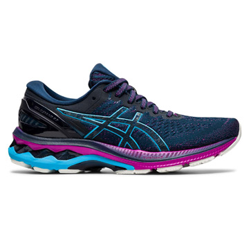 Asics Gel Kayano 27 Womens Running Shoes (French Blue/Digital Aqua)