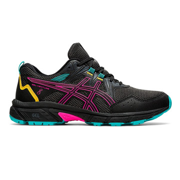 Asics Gel Venture 8 Womens Running Shoes (Black-Pink Glo)