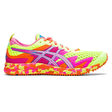 Asics Gel Noosa Tri 12 Womens Running Shoes (Safety Yellow/Dragon Fruit)