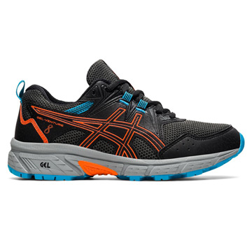 Asics Gel Venture 8 GS Junior Running Shoes (Black/Marigold Orange)