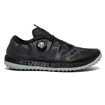 Saucony Switchback ISO Mens Trail Running Shoes (Black-Grey)