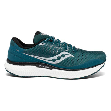 Saucony Triumph 18 Mens Running Shoes (Deep Teal/ Silver)