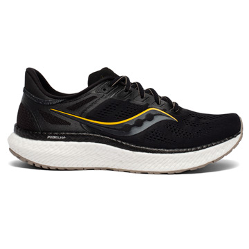Saucony Hurricane 23 Mens Running Shoes (Black/Vizi Gold)