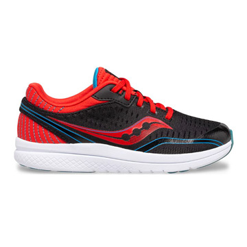 Saucony Kinvara 11 Junior Running Shoes (Black/ Red/ Blue)